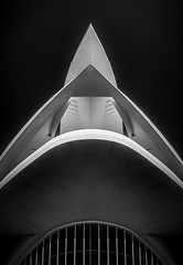 Top Points (TS446Photo) Tags: architecture valencia travel building infrared nikon d7000 zeiss look up lookup blackandwhite bnw mono monochrome black white city cityscape glow detail contrast workshop weekend trip blog fineart photo photography