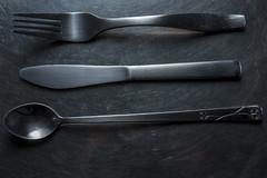 The Three Musketeers (AM_DB) Tags: productphotography homestudio productshoot kitchenutensils spoon fork knife strobist strobistwork strobes speedlights speedlites umbrellaorbrolly lightdiffusion nikon
