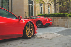 Ferraris (Beyond Speed) Tags: ferrari f12 f12berlinetta berlinetta 458 speciale supercar supercars car cars carspotting nikon automotive automobili auto london knightsbridge red v8 v12