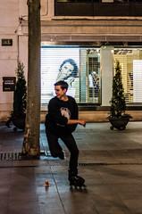 Roller (JSEBOUVI : 2.2 millions views !) Tags: woman game sport night speed ads pub flickr buy roller noite rua soire soir espagne purchase sville ville mouvement affiche andalousie tumblr society6 28fvrier2014