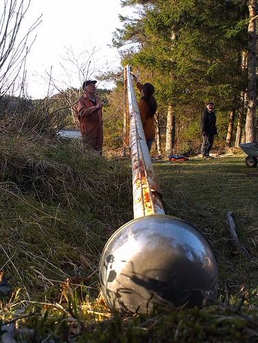 Dugnad 2014 nr1: Flaggstanga er nede