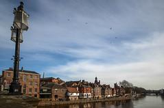 The Ouse riverside in York (1) (nican45) Tags: york sky cloud slr clouds canon river yorkshire sigma dslr 1020mm ouse 1020 waterway riverouse skeldergatebridge 600d kingsstaith 1020mmf456exdc bridgeyork eos600d