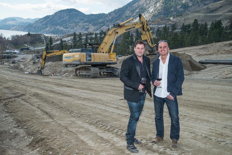 Jason Pechet, President, Stagewest Hospitality (left) and Mohamed Awad - Manager of Skaha Hills Winery & Vineyard (right)