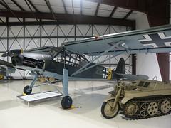 647 Arlington 21-9-05 Feisler Storch front side on 2 (Proplinerman) Tags: arlington aircraft storch luftwaffe wehrmacht kettenkrad feiseler