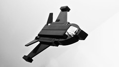 Stealth Fighter (hajdekr) Tags: black airplane toy fighter lego aircraft air small stealth microscale