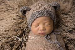 Evan (njmommyof3boys) Tags: bear boy baby hat teddy natural wrap teddybear newborn rug bonnet shag