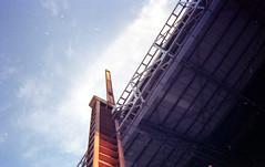 Up to (Giampaolo Squarcina) Tags: building film analog 35mm torino industrial analogue 135 turin industria industrialplant pellicola analogico parcodora giampaolosquarcina nikonef300