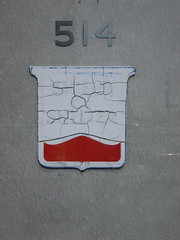 514 (J.G. Park) Tags: capegirardeau missouri cape southeast 2014 number sign 514 cracked faded shield shelter red