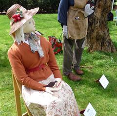 Flora - bean pole scarecrow (karenblakeman) Tags: uk flora scarecrow april caversham 2014 cavershamcourtgarden beanpoleday mikelelliot hestercasey
