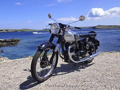 1950 500cc Norton Model 7 (Digidiverdave) Tags: classic vintage norton menorca baleares classicmotorcycle classicmotorbike davidhenshaw veteranmenorca