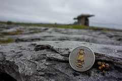 Light in the Afterlife (christopher_brown) Tags: ireland landscape coin europe clare theburren eu limestone burren token ie irl countyclare megalithictomb portaltomb poulnabronedolmen druidsaltar getlamp