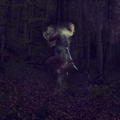 Time Travelling (harriet.bols) Tags: jump woods glow magic inspired mystical babypowder brookeshaden