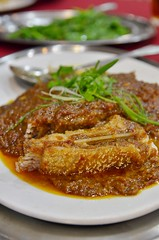 Steamed Saito Fish Belly w Spicy Bean Sauce (J2Kfm) Tags: food fish restaurant malaysia seafood ipoh perak pasirputeh