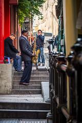The Purpose of Stairs...A show (anthonyleungkc) Tags: show street ed hongkong stair candid olympus snap 60mm f28 saxophone omd lightroom m43 mft mzd em5 microfourthirds mzuikodigital thepurposeofstair