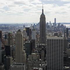 Empire State Building and Lower Manhattan (StephanPhoto) Tags: nyc newyorkcity ny newyork manhattan rockefellercenter esb empirestatebuilding lowermanhattan observationdeck gebuilding 1wtc