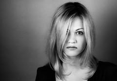 Female glance (Dmitriy Ryabov) Tags: portrait people blackandwhite bw woman film girl monochrome canon photography photo canon1v canoneos1v canonef85mmf12liiusm dmitriyryabov