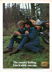 1973 Lee Rider Jeans and Jackets Advertisement Hot Rod August 1973 (SenseiAlan) Tags: hot august advertisement jeans lee rod rider 1973 jackets