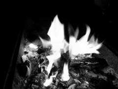 Dancing flames (adam_moralee) Tags: wood shadow bw white black southwest west adam monochrome beautiful dark fire blackwhite darkness dancing south flames somerset wb bbq explore flame bonfire finepix fujifilm coal taunton picoftheday carcoal s1500 moralee adammoralee