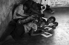 MWI-Lilongwe-1203-391-bw2 (anthonyasael) Tags: africa school girls boy portrait people black art boys girl smile smiling horizontal kids children fun happy us kid community all child floor emotion classroom image drawing african centre picture happiness class southern photograph age portraiture malawi only anthony afrika primary pupil elementary based childcare cbcc lilongwe topb asael kauma