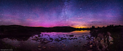 Reflected Auroras (tmo-photo) Tags: travel pink summer sky lake reflection nature yellow night stars outdoors colorado purple aurora aspen northernlights taylorpass auroraborealis bigdipper polaris milkyway xclass tmophoto