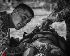 139/365 - Slipping Away (G. Morgenweck) Tags: life camera portrait blackandwhite bw face photoshop soldier army photography photo nikon candid military alabama photojournalism lifestyle medical processing enterprise locations lightroom 2014 medevac d600 fmc 365project
