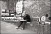 Street artist - San Marino (Franco & Lia) Tags: street blackandwhite film analog sanmarino noiretblanc streetartist painter apx100 agfa rodinal biancoenero argentique blackdiamond pellicola pittore analogico artistadistrada r09 blackwhitephotos nikonl35af2 stphotographia