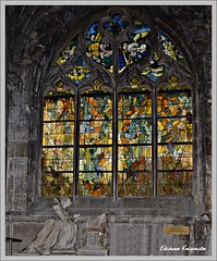Notre-Dame of Vernon, France (Eleanna Kounoupa) Tags: windows france church window architecture decoration stainedglass notredame vernon stainedglasswindows architecturaldetails        notredame