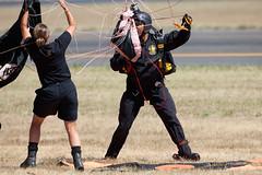 Tango_Tangle_4007 (Mike Head -Jetwashphotos) Tags: usa oregon america us or landed hillsboro usarmy teamwork hio parachuteteam goldenknights khio oregonairshow