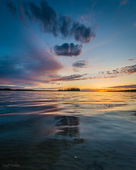High Island (WherezJeff) Tags: sunset orange lake canada yellow island high purple sandy bottom alberta rippled fortsaskatchewan astotin