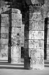 Carved Columns at Temple of the Warriors, Chichen Itza (Oliver J Davis Photography (ollygringo)) Tags: travel heritage history archaeology stone architecture buildings mexico mesoamerica temple construction ancienthistory ancient nikon ruins pyramid maya stonework columns masonry yucatan unescoworldheritagesite worldheritagesite chichenitza yucatn mayan civilization warriors pillars archeology civilisation americas mayas templo precolombian centralamerica worldheritage guerreros d90 templeofthewarriors steppyramid yucatnpeninsula templodelosguerreros