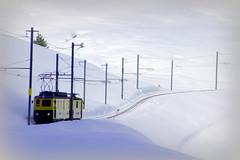 Along comes a train (Jungfraujoch, Switzerland) (armxesde) Tags: snow mountains alps train schweiz switzerland pentax zug alpen bahn jungfraujoch k5 wengernalpbahn