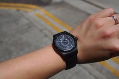 Swatch Sistem51 Black SUTB400 (anthonyleungwatches) Tags: black lumix hongkong swatch mechanical watch olympus panasonic plastic automatic 20mm omd f17 m43 mft 19j em5 sooc 19jewels manualwinding microfourthirds sistem51 sutb400