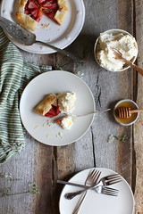 strawberry + peach galette with honey whipped cream (Maggie Pate) Tags: summer recipe strawberries peaches galette foodphotography foodstyling margaretpate witandaroma