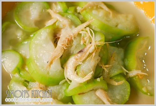 白蝦乾炒絲瓜11