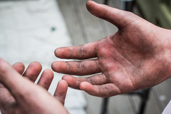 working hands (aarongilson) Tags: work hands labor dirty ring stained grease rough manuallabor