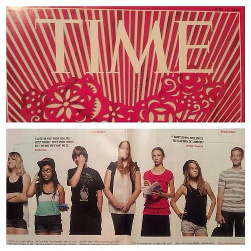 Throwback Thursday to 7th Grade. #tbt #timemagazine #knewton #festivalfoothills #TIME #math