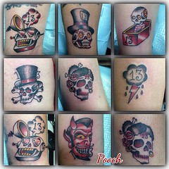 Friday the 13th bangers... Thanks to all our friends for coming out and getting zapped! #lakeworthtattoo #eldubink #westpalmbeachtattoo #alteredstatetattoo #pooch_art