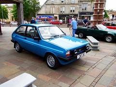Hamilton (View of a Ford Fiesta,from Quarry Street) (Netty 78) Tags: greatbritain blue classic car scotland 1982 automobile europe display unitedkingdom hamilton british europeanunion 2014 fordfiesta southlanarkshire