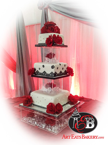 White Black And Red Quinceanera Girl S 15th Birthday Cake With