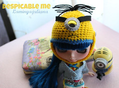 Despicable me Minion hat for Neo Blythe