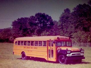 THOMAS BUILT BUS, 1960 GMC NC School Bus, Omaha Orange.  Digitized from print.