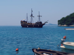 Croatian Coast (Jane_HC) Tags: lensbaby boat sailing ship pirate amateur tranquil dalmatia lensbabysweet35 sweet35