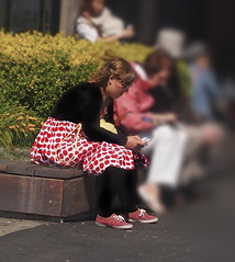 Jami Cakes at Pier 39 in her Mod Cloth Tomato Dress and Keds White polkadotted red sneakers checking her phone (DRUified) Tags: rebeccadruphotography sanfrancisco sanfranciscocalifornia sanfranciscostreetscenes aroundtheworldwithjamicakes waterfront sanfranciscowaterfront modcloth modclothtomatodress keds kedspolkadottedsneakers california usa getolympus olympuscamera iwanttobeanolympusvisionary olympusomd olympusem1 olympusem5 druified thesoulphotographer