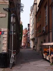 Bike (Mgd8126) Tags: street old bike town poland olympus baltic nike sail gdansk bicykle 2014 epl3