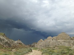 Ominous Skies Over Valley of the Castles. #dinosaurprovincialpark (Turniposaurus) Tags: canada alberta dinosaurprovincialpark ominousskies valleyofthecastles