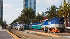 San Diego Santa Fe Depot (Nohab0100) Tags: california usa station train sandiego railway amtrak eua locomotive coaster pacificsurfliner estao comboio locomotiva emd superliner santafedepot f59phi