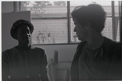 Untitled BW (4) edit (Marcelle Bradbeer) Tags: friends portrait blackandwhite male slr art film 35mm painting studio photography friend paint collingwood minolta fineart fitzroy streetphotography style melbourne streetlife warehouse 35mmfilm portraiture artists figure analogue ilford malemodel artstudio minoltaslr ilfordfilm marcellebradbeer studiohangouts