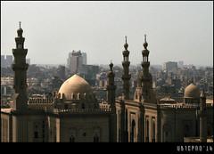 Sultan Al-Ghuri Complex (Ubierno) Tags: city summer ro river holidays egypt ciudad mosque panoramic nile cairo verano mezquita egipto vacaciones saladino egypte muhammadali  panormica alabaster caire nilo alabastro elcairo  alghuri ubierno