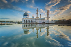 Morning Light III (zakies) Tags: longexposure blue sky reflection mirror morninglight hour malaysia kotakinabalu moment sabah singleexposure likasmosque nikond700 zakiesphotography zakiesimage sabahsunrise
