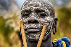 V come... - Surma man - Ethiopia (fabio6065) Tags: portrait face portraits facepainting eyes omovalley ethiopia ritratti ritratto surma emozioni suri etiopia popoli omoriver surmatribe fabiomarcato omotribe suritribe omorivertribe